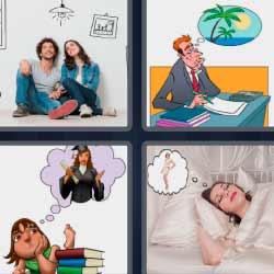 4 fotos 1 palabra pareja imaginando