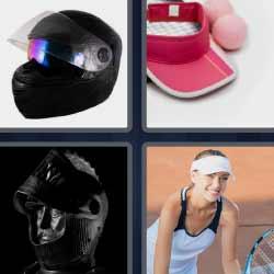 4 fotos 1 palabra casco negro