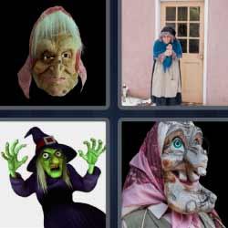 4 fotos 1 palabra mujer mayor