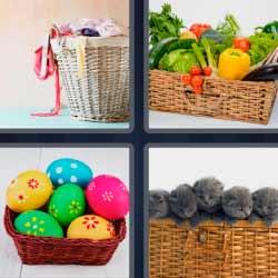 4 fotos 1 palabra cesta de huevos