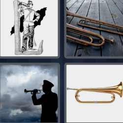 4 fotos 1 palabra trombón