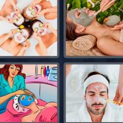 4 fotos 1 palabra mascarilla