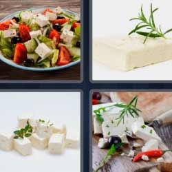4 fotos 1 palabra ensalada queso