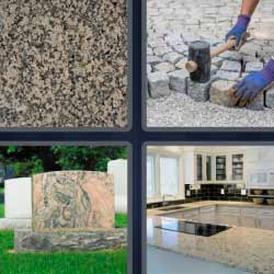 4 fotos 1 palabra piedra mineral