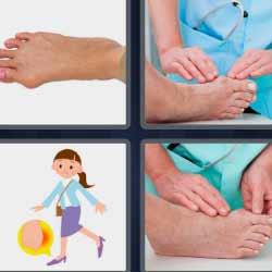 4 fotos 1 palabra pies