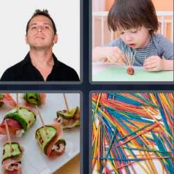 4 fotos 1 palabra palitos de brochet