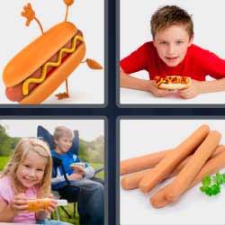 4 fotos 1 palabra salchicha