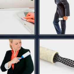 4 fotos 1 palabra limpia ropa