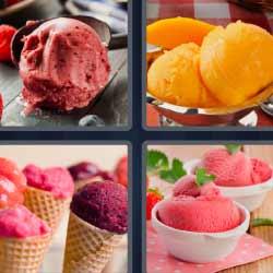 4 fotos 1 palabra helado hielo