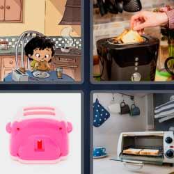 4 fotos 1 palabra niño comiendo sandwich