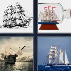 4 fotos 1 palabra barco grande