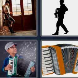 4 fotos 1 palabra niño tocando música
