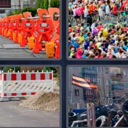 4 fotos 1 palabra barrera gente