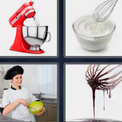 4 fotos 1 palabra chocolate derretido