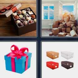 4 fotos 1 palabra bombones