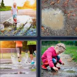 4 fotos 1 palabra botas de agua
