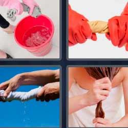 4 fotos 1 palabra cubo rosa