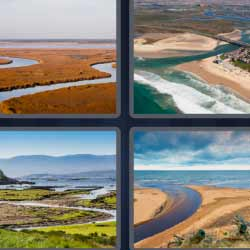 4 fotos 1 palabra paisajes con ríos