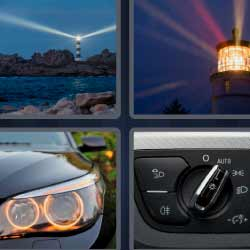 4 fotos 1 palabra faro de coche