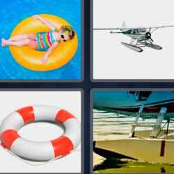 4 fotos 1 palabra niña salvavidas