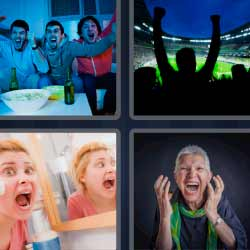 4 fotos 1 palabra viendo futbol