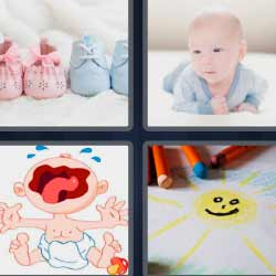 4 fotos 1 palabra bebés