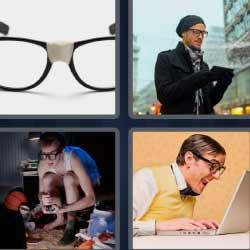 4 fotos 1 palabra gafas