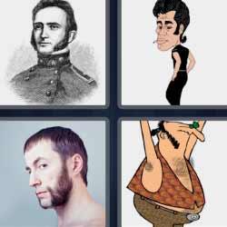 4 fotos 1 palabra militar antiguo
