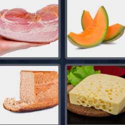 4 fotos 1 palabra melón