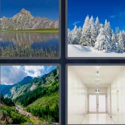 4 fotos 1 palabra paisaje nevado