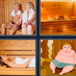 4 fotos 1 palabra habitación de madera
