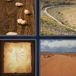 4 fotos 1 palabra cacahuetes mapa camino