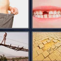 4 fotos 1 palabra puente colgante