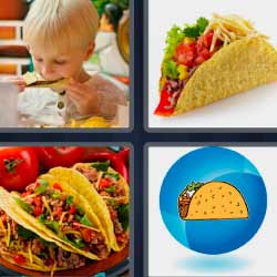 Cuatro fotos una palabra tortitas
