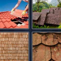 4 fotos 1 palabra reparando techo