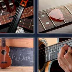 4 fotos 1 palabra guitarras