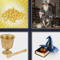 4 fotos 1 palabra sombrero mágico