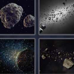 4 fotos 1 palabra rocas del espacio
