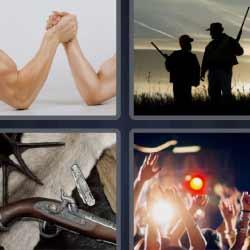 4 fotos 1 palabra haciendo un pulso