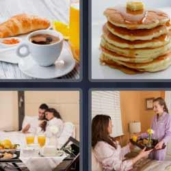 4 fotos 1 palabra pancakes