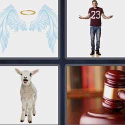 4 fotos 1 palabra martillo juez
