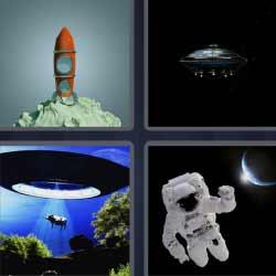 4 fotos 1 palabra astronauta