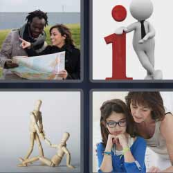 4 fotos 1 palabra ayudando