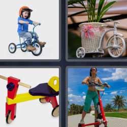 4 fotos 1 palabra bici de tres ruedas