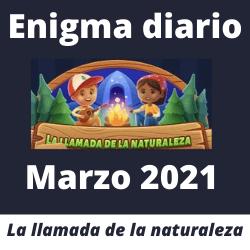 Enigma diario Marzo 2021 Respuestas