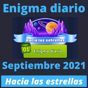 Enigma diario septiembre 2021 Hacia las estrellas